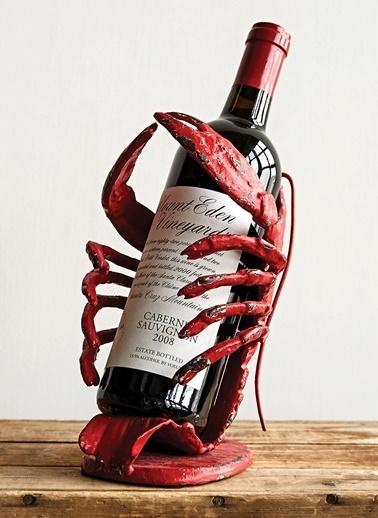 Istakoz Şarap Şişesi Tutacağı-Warm Design